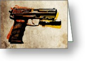 Pop Art Digital Art Greeting Cards - HK 45 Pistol Greeting Card by Michael Tompsett