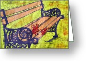 Fine Art Batik Tapestries - Textiles Greeting Cards - Ho oponopono -  I Love You Greeting Card by Kristine Allphin