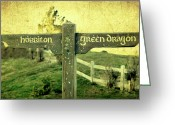 The Lord Of The Rings Greeting Cards - Hobbiton Signage Greeting Card by Linde Townsend