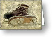 Skates Greeting Cards - Hockey Boots Greeting Card by Dariusz Gudowicz