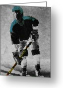 Hockey Mixed Media Greeting Cards - Hockey Dude Greeting Card by Kenneth Drylie