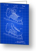 Stanley Cup Greeting Cards - Hockey Shoe Patent Greeting Card by Stephen Younts