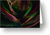 Greens Framed Prints Greeting Cards - Hocus Pocus abstract Orchid 2 Phaeleonopsis Greeting Card by Jayne Logan Intveld