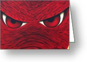 Arkansas Greeting Cards - Hog Eyes 2 Greeting Card by Amy Parker