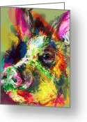 Jim Thomas Greeting Cards - Hog Greeting Card by James Thomas