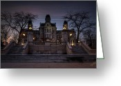 Hall Photo Greeting Cards - Hogwarts - Hall of Languages Greeting Card by Everet Regal