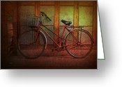 Pushbike Greeting Cards - Hoi An Bike Greeting Card by Stuart Row