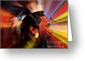 Lakota Greeting Cards - Hoka Hey Greeting Card by Terril Heilman