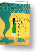 Storm Posters Greeting Cards - Holding Back The Flood Greeting Card by Patrick J Murphy