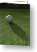 Golf Digital Art Greeting Cards - Hole in One Greeting Card by Cynthia Decker