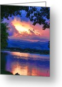 Sunset Posters Greeting Cards - Hole in the Sky Sunset Greeting Card by James Bo Insogna