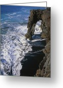 Big Island Greeting Cards - Holei Sea Arch, Hawaii, Usa Greeting Card by G. Brad Lewis