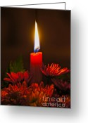 Kwanzaa Greeting Cards - Holiday Candle Greeting Card by Sean Griffin
