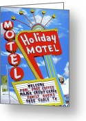 Reproductions Greeting Cards - Holiday Motel Greeting Card by Anthony Ross