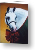Horse Show Greeting Cards - Holiday Pony Greeting Card by Janet  Crawford
