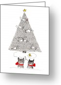 Rudolph Drawings Greeting Cards - Holiday Wishes Do Come True Greeting Card by Lou Belcher