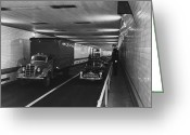 New York City Police Greeting Cards - Holland Tunnel, Nyc Greeting Card by Photo Researchers