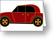 Asbjorn Lonvig Greeting Cards - Hollandes Beach Car - Virtual Car Greeting Card by Asbjorn Lonvig