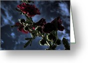 Hollyhock Greeting Cards - Hollyhock Greeting Card by Bonnie Bruno
