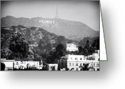 California Photographer Greeting Cards - Hollywood Sign Greeting Card by John Rizzuto