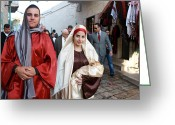 Christmas Greeting Cards - Holy Family at 4th Annual Christmas March for Peace and Unity Greeting Card by Munir Alawi