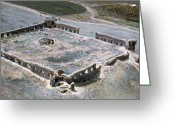 1970s Photo Greeting Cards - Holy Land: Caravansary Greeting Card by Granger