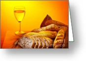 Sacred Photo Greeting Cards - Holy supper Greeting Card by Anna Omelchenko