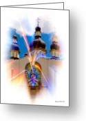 Smudgeart Greeting Cards - Holy Trinity Cathedral  Greeting Card by Madeline M Allen