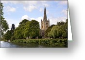 Shakespeare Greeting Cards - Holy Trinity Church Greeting Card by Jane Rix