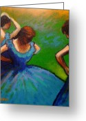 Costumes Painting Greeting Cards - Homage to Degas II Greeting Card by John  Nolan