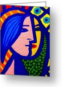Still Life Greeting Card Greeting Cards - Homage To Pablo Picasso Greeting Card by John  Nolan