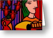 Giclees Greeting Cards - Homage to Picasso Greeting Card by John  Nolan