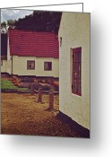 Tiled Roof Greeting Cards - Home And Garden Greeting Card by Odd Jeppesen