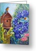 Carol Allen Anfinsen Greeting Cards - Home at Last Greeting Card by Carol Allen Anfinsen
