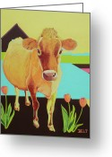 Christine Belt Greeting Cards - Home at the Farm Greeting Card by Christine Belt