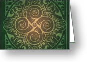 House Tapestries Textiles Greeting Cards - Home Blessing Greeting Card by Cristina McAllister