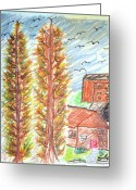 Woods Pastels Greeting Cards - Home Greeting Card by Edo Hagedorn