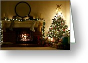 Warmth Greeting Cards - Home for the Holidays Greeting Card by Ellen Henneke