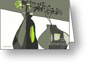 Artography Greeting Cards - Home Groove Greens Greeting Card by Jayne Logan