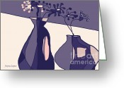 Artography Greeting Cards - Home Groove Pinks Mauves Greeting Card by Jayne Logan