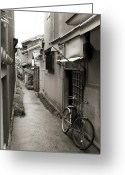 Bicycle Greeting Cards - Home in Kyoto Greeting Card by Jessica Rose