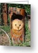 Carving Sculpture Greeting Cards - Home Greeting Card by Julianna Wells