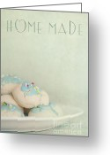 Wall Greeting Cards - Home Made Cookies Greeting Card by Priska Wettstein