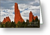 Garden Of The Gods Greeting Cards - Home of the Weather God - Garden Of The Gods - Colorado City Greeting Card by Christine Till