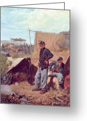 Encampment Greeting Cards - Home Sweet Home Greeting Card by Winslow Homer