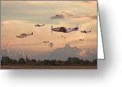 Classic Mustang Greeting Cards - Home to Roost Greeting Card by Pat Speirs