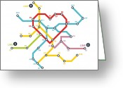 Metro Greeting Cards - Home where the heart is Greeting Card by Budi Satria Kwan