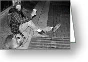 Nashville Greeting Cards - Homeless with Faithful Companion Greeting Card by Kristin Elmquist