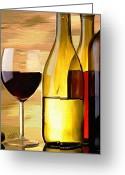 Wine Art Digital Art Greeting Cards - Homemade Greeting Card by James Shepherd