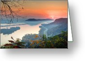 Homer Greeting Cards - Homer Sunrise Greeting Card by Al  Mueller